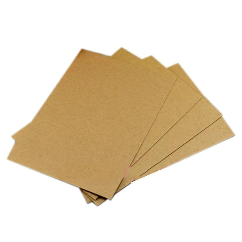 20PCS Blank Greeting Card Kraft Paper Postcard Vintage Blank Postcards DIY Hand Painted Graffiti Message Card