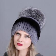 Winter Women Hats Fox Rabbit Fur Skullies Beanies Warm Elastic Fashionable Fluffy Thick Outdoor Stylish Natural