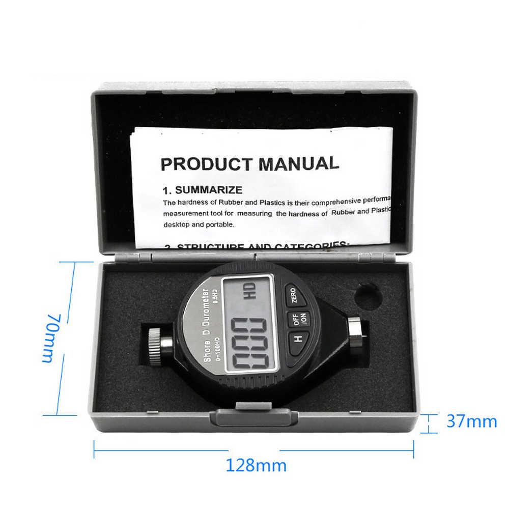 Цифровой Твердость по суше дюрометр A/C/D твердость тест er шины пластиковый резиновый тест инструмент Цифровой Твердомер ЖК-дисплей 0-100HA