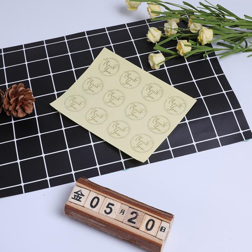 Купить с кэшбэком 120pcs/lot Round  For you bronzing Black Handmade Cake Packaging Sealing Label Sticker Baking DIY Party Gift Box Stickers