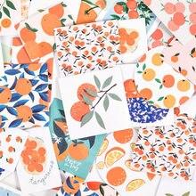 Journamm-Mini pegatinas de frutas y naranja para decoración, bricolaje, diario, álbum de recortes, etiqueta adhesiva, suministros de papelería, 46 Uds.