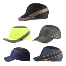 عثرة قبعة العمل خوذة أمان تنفس الأمن المضادة للتأثير خفيفة الوزن الخوذات موضة عادية واقية من الشمس قبعة واقية