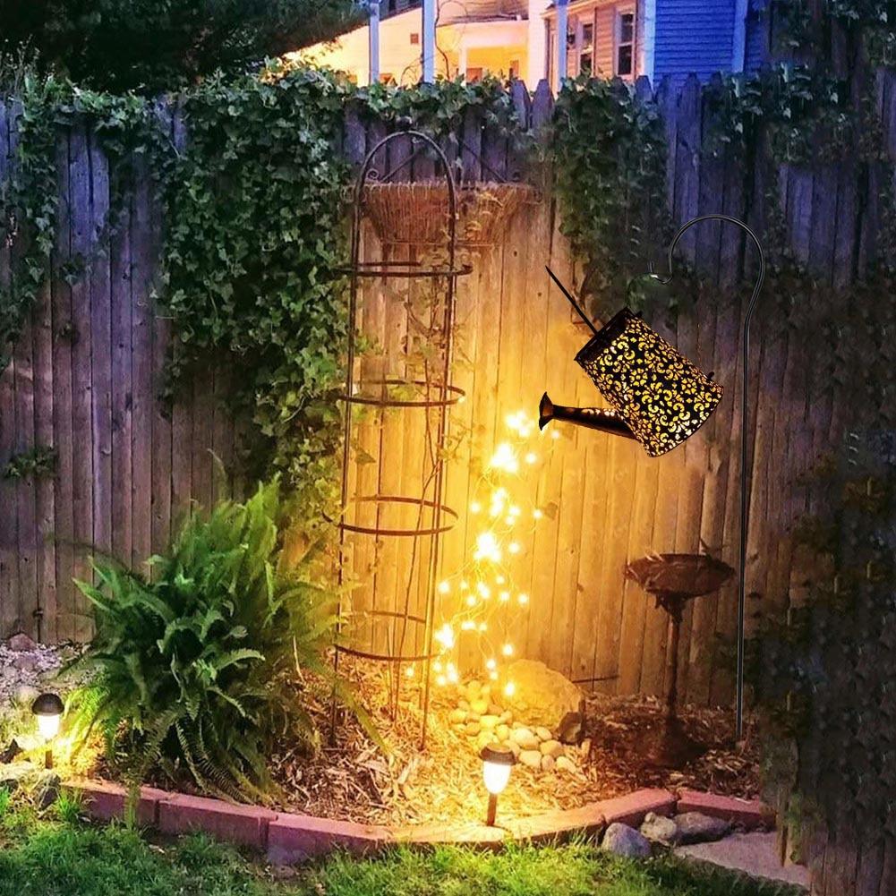 chuveiro chaleira lâmpada jardim ao ar livre