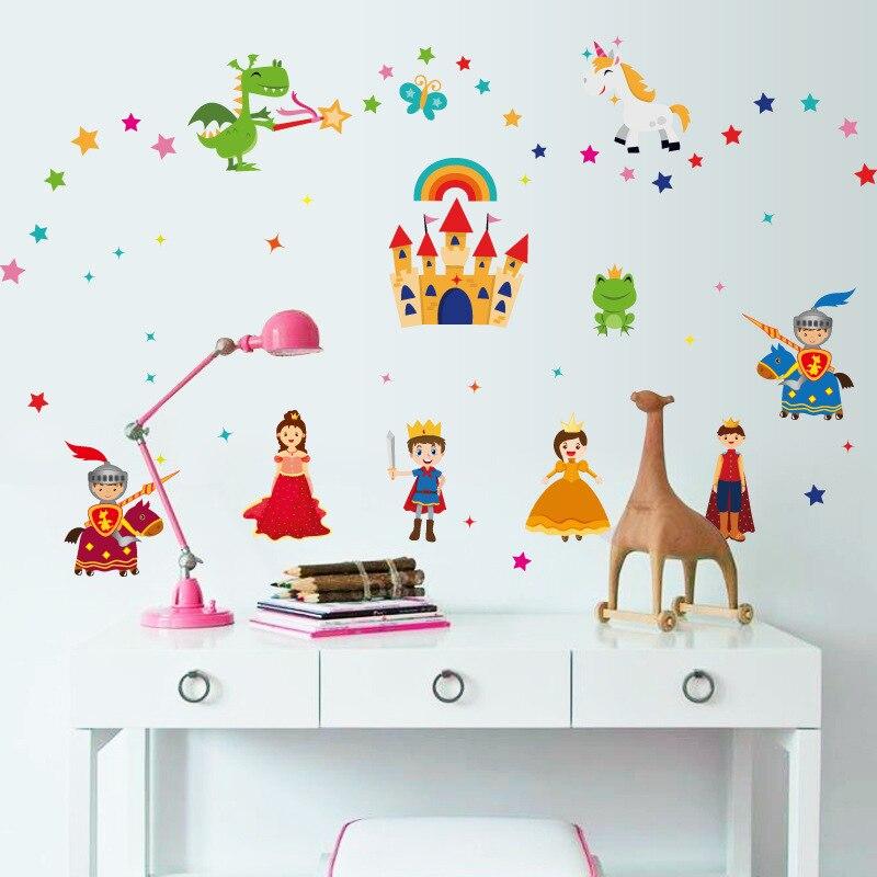Купить креативная настенная наклейка с изображением сказочного принца