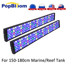 LED Light untuk Aquarium Tangki Popbloom Programmable Timer 4 Dimmable TV LED Lampu untuk SPS LPS Laut Reef Aqua Tank turing75(China)