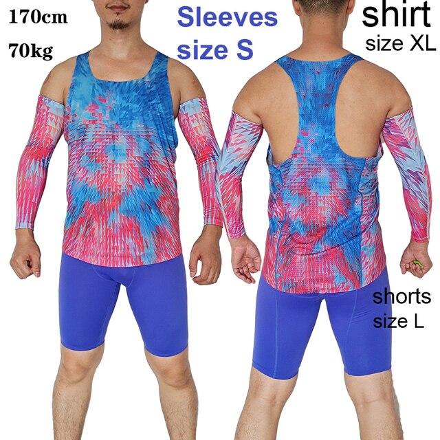 Diamond Race Man Fast Running Speed Arm Warmer Sleeves Professional Athlete Track Field Mesh Customizable LOGO 6