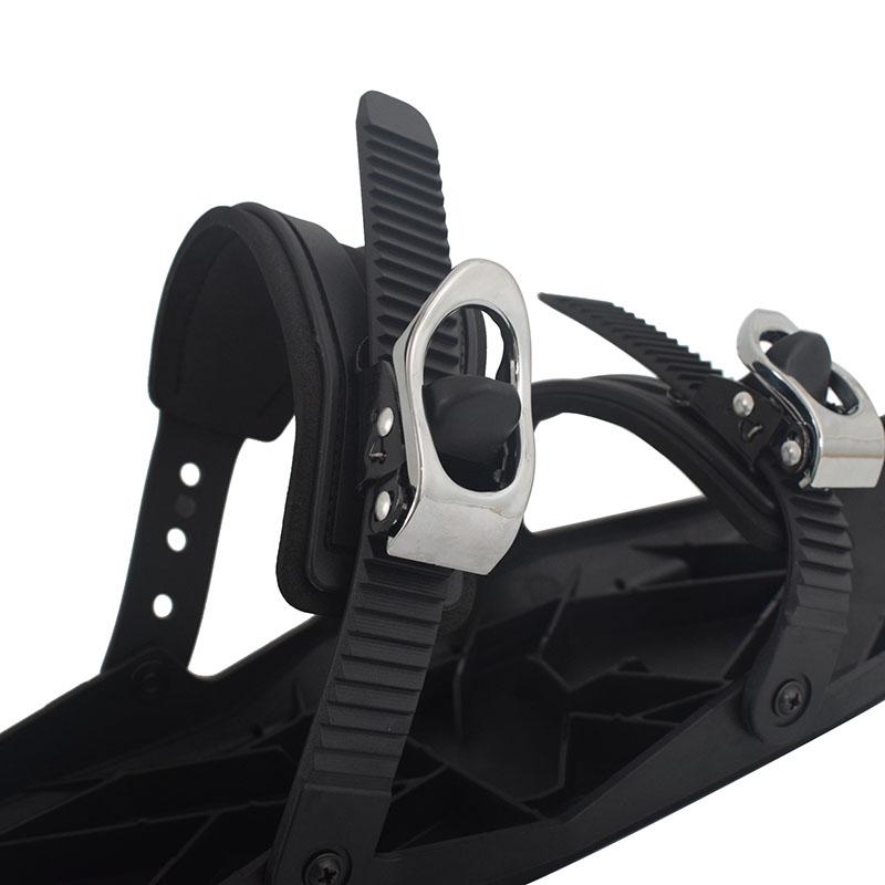 Mini Ski board Snow Blades Adjustable Bindings Portable Skiing Shoes