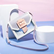 Przezroczysta torba Mini torba na ramię luksusowe torebki damskie torebki projektant torebki damskie 2020 moda torebka typu Jelly bag torebki i torebki tanie tanio Flap Torby na ramię Na ramię i torby crossbody Mikrofibra Skóry Syntetycznej COVER HARD Klapa kieszeni LN9985 Wszechstronny