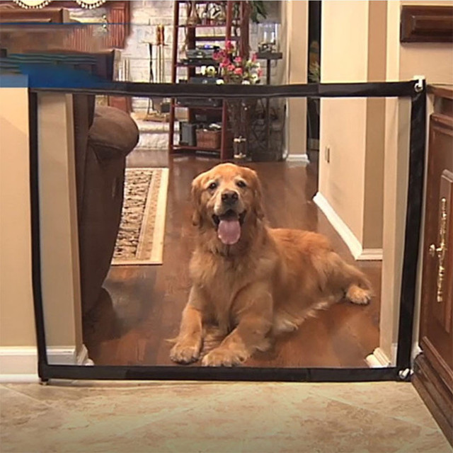 Portable Mesh Foldable Dog Fence For Indoor & Outdoor Pet Safety Enclosure  1