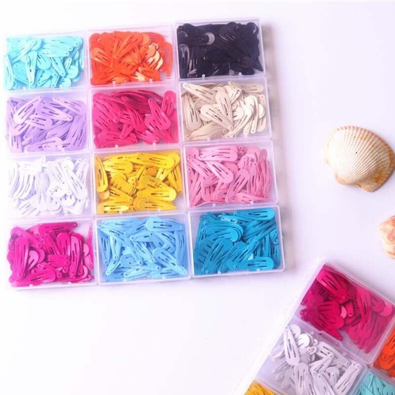 Korean Children's Hair Clip Set 50 3cm Drop Clips Macaron BB Clip Paint Clip Baby Metal Jewelry