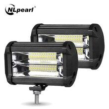 цена на Nlpearl 5 72W White Yellow LED Fog Light for Off Road 4x4 Truck Suv Atv Spot Flood Beam LED Work Light Bar Car Driving Fog Lamp