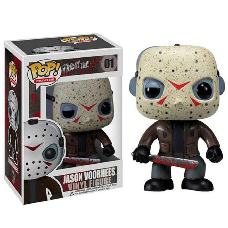 Funko Pop Friday the 13th JASON VOORHEES #202 #01 Vinyl Figure Toys Boy Collectible JASON PVC Action Figure Model Toys Gifts