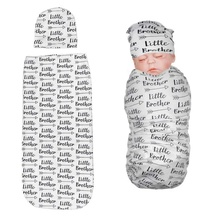 Newborn Baby Soft Letter Printing Blankets Swaddling Infant Swaddle Wr