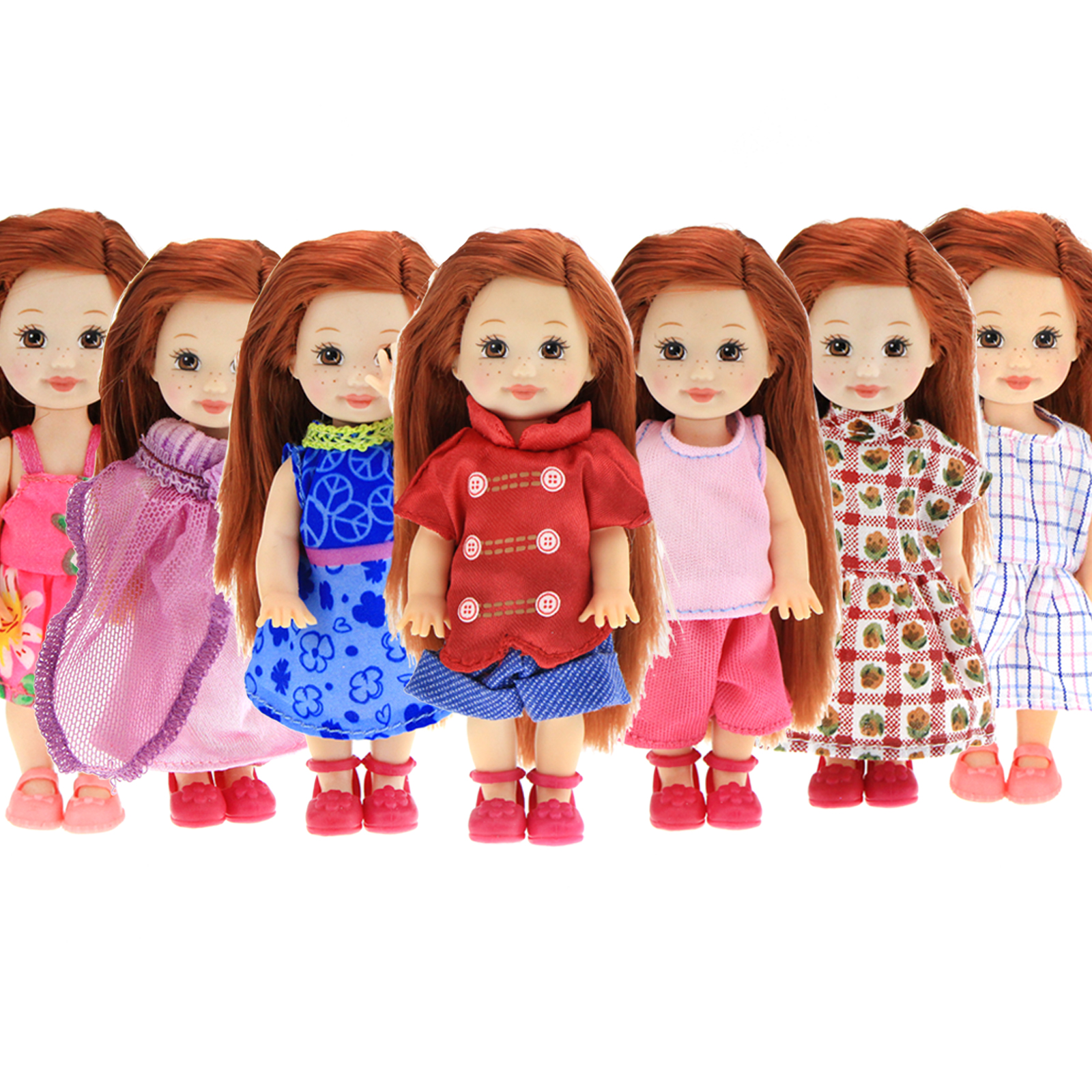 Random Pick 5 Set Daily Mini Doll Dress Cute Outfits Gown Clothes For Barbie Sister Kelly Doll House Girl Baby Accessories Toy