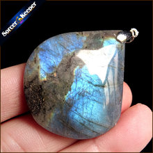 Women & Men Fashion Jewelry Pendants Necklaces With Chain Wholesale Labradorite Moonstone Quartz Stone Colares Femininos AA982(China)