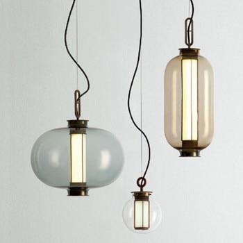 Post-modern style dining room glass pendant lamp Milan designer creative resturant parlor combination led hanging light fixtures