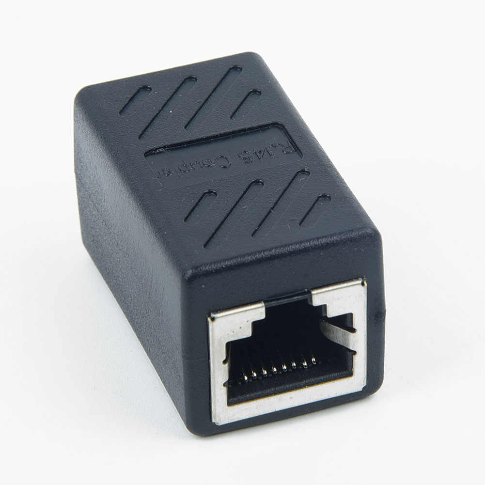 RJ45 Ethernet Netwerk Lan Extender Adapter Connector Koppeling Voor Kabels 2 Stuks Standaard RJ45 Vrouwelijke Poort Voor 2 Netwerk Kabels