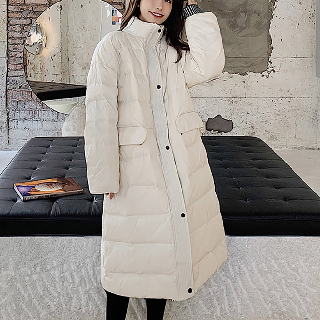 Women Winter Warm Jacket Duck Down Jackets Slim Long Sleeve Coats Autumn Lace Solid Coat Thick Outwear Y828