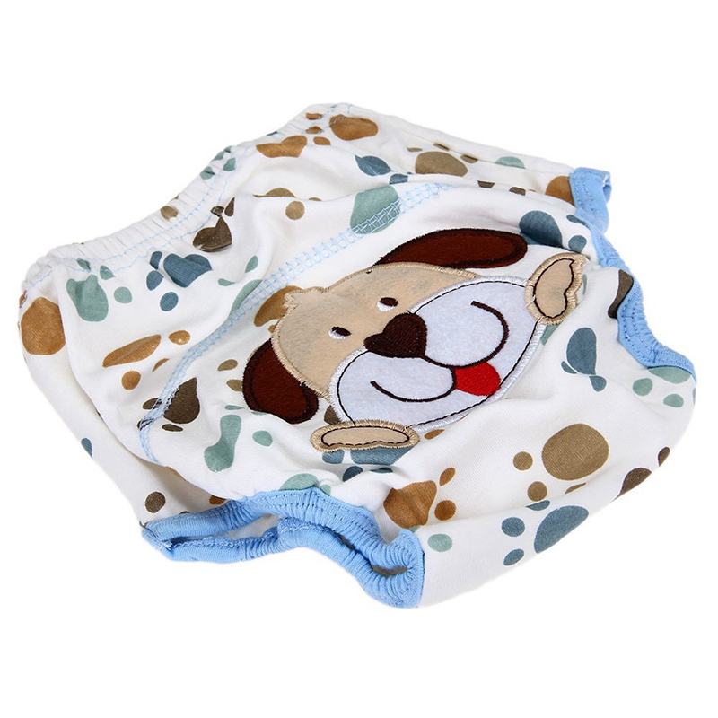 Layer Learning Panties Of Washable Cotton Waterproof Dog Pattern For Baby