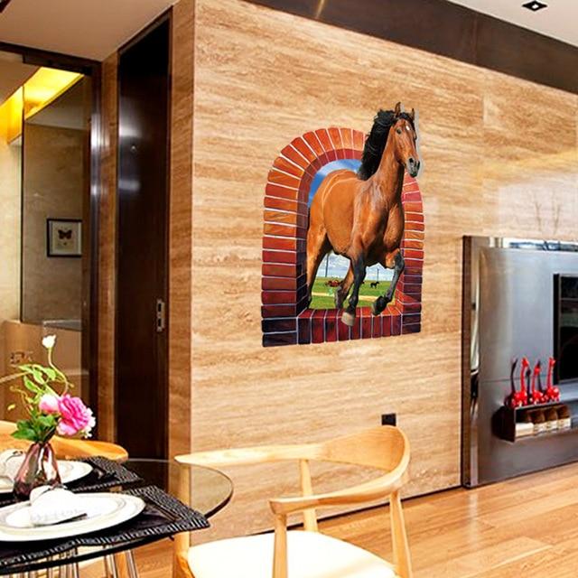 Фото sk90743d стикер на стену лошадь спальня гостиная крыльцо тв