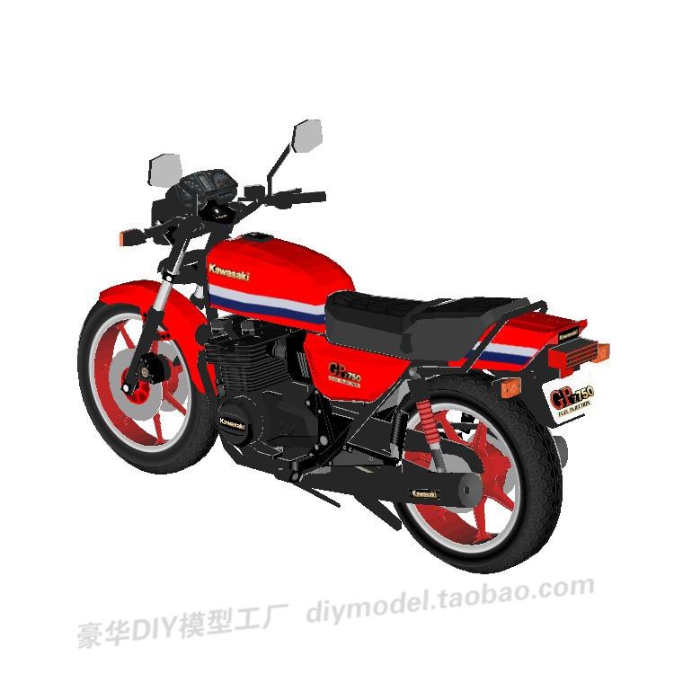 Kawasaki GPz750 Motorcycle Archie Magic 3D Paper Model DIY Handmade Puzzle Toy Figurine Decoration Decoration