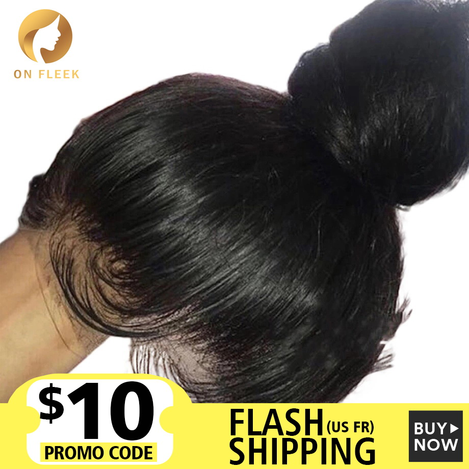 360 Lace Frontal Human Hair Wigs For Black Women Pre Plucked With Baby Hair Straight Wave Remy Human Hair Wig 150 Density