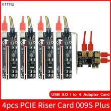 H1111Z PCI E PCIE yükseltici kart 1 ila 4 USB3.0 adaptör kartı çoğaltıcı HUB PCI Express yükseltici 009S artı yükseltici PCIE x16 BTC madencilik
