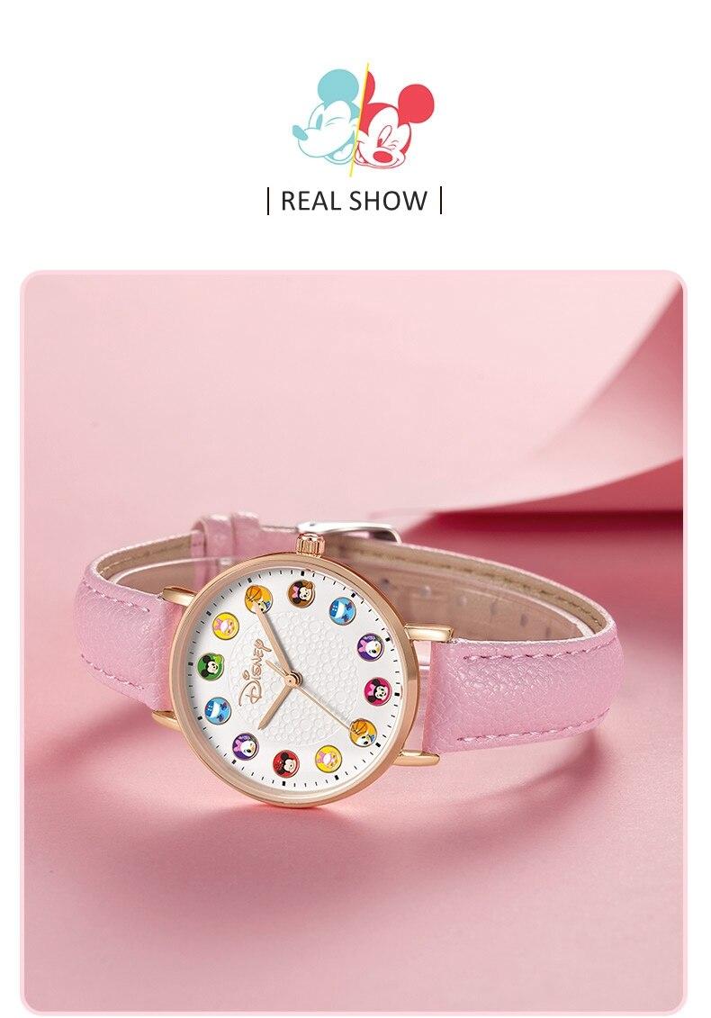casual quartzo relógio de pulso micky desenhos