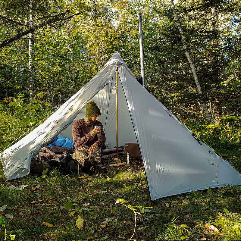 Ultralight Double Heated Shelter OneTigris SMOKEY HUT Chimney Tent