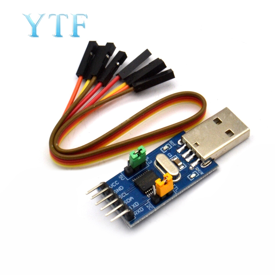CH341T Combo Module USB To I2C IIC UART USB To TTL Single-Chip Serial Downloader