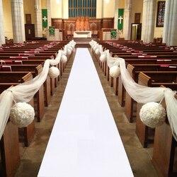 5 m 10 m 웨딩 파티 카펫 깔개 통로 러너 레드 화이트 장식 야외 해변 결혼식을위한 부직포 두께: 0.8mm