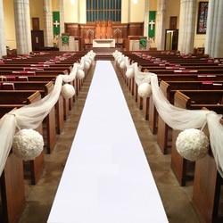 Tela não tecida branca vermelha da decoração do corredor do tapete da festa de casamento de 5 m 10 m para casamentos exteriores da praia espessura: 0.8mm