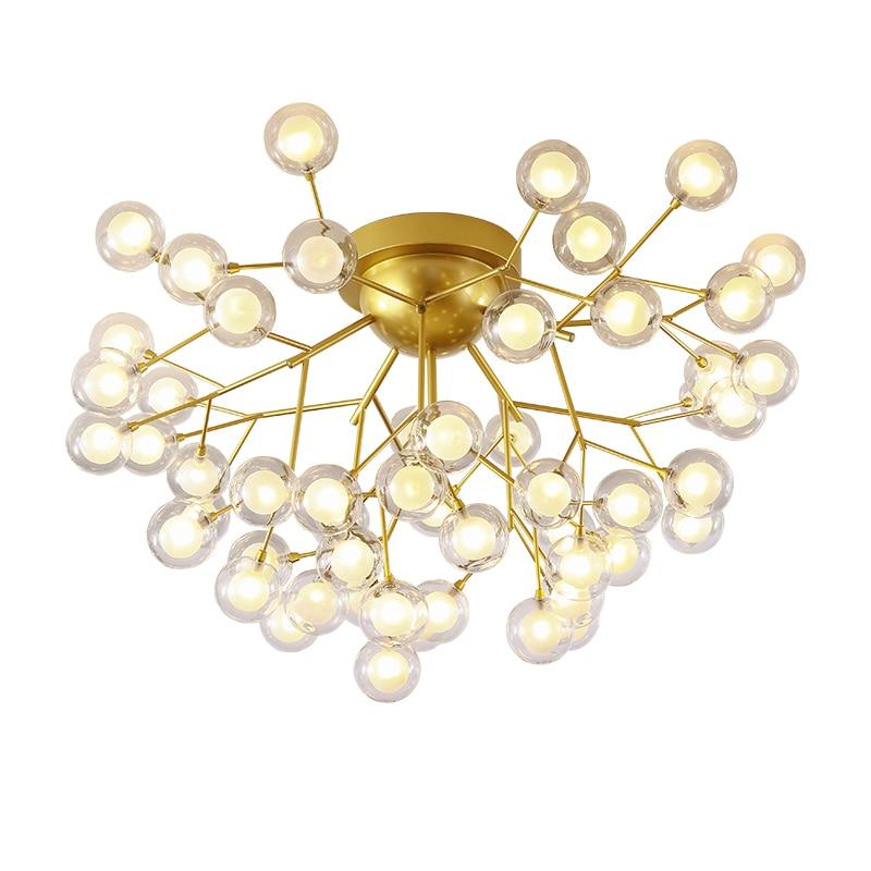 ramo montagem criancas lampadas bola vidro tons luzes para sala estar 05