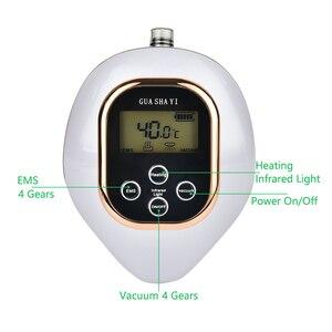 Электрический массаж баночный массаж ЖК-дисплей Дисплей массаж скребком гуаша EMS массажер для тела вакуумных банок присоска ИК нагреватель...