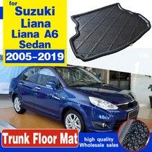 Коврики для багажника Suzuki Liana A6 Liana Aerio SX Baleno Sedan 2005-2019, Нескользящие, водонепроницаемые