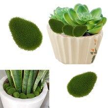 Искусственное растение, украшение «сделай сам», Искусственный мох, камни, домашний декор, 30 шт., зеленые креативные поделки для сада и ремесл...