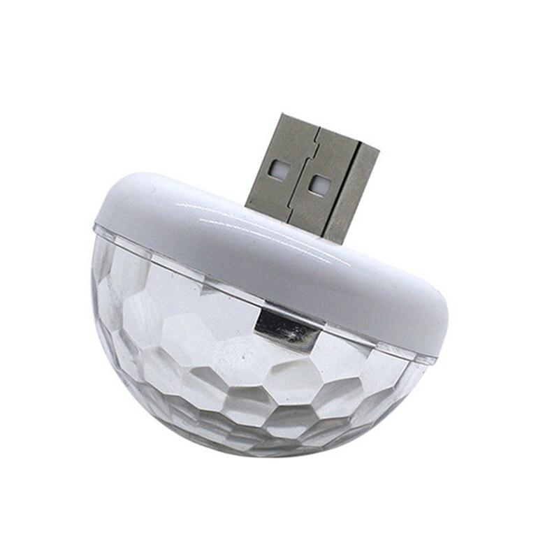 Usb Mini Led Disco Magic Light Ball Portable Karaoke Party Decor Lamp Dj Stage Bar With Type-C Adapter