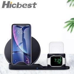 3 em 1 suporte do carregador sem fio para o iphone 8 x xr xs estação doca de carregamento sem fio carregador magnético para apple watch 4 3 2 1 3in1