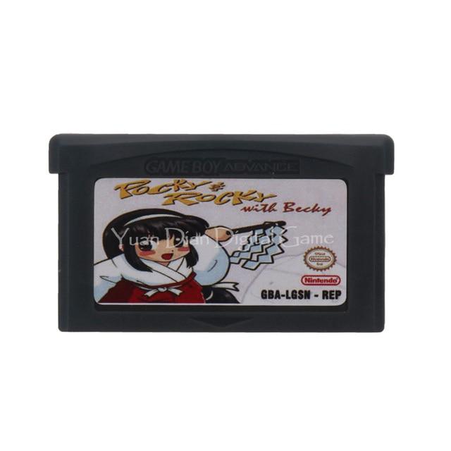 Für Nintendo GBA Video Spiel Patrone Konsole Karte Pocky & Rocky Englisch Sprache UNS Version