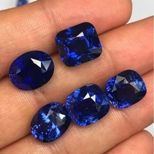 1PCS טבעי חיתוך 3A טנזניה ספיר קורונדום ספינל שונים צורות פסיפס תכשיטי Diy כחול פנינה AAA אבן של Jewelri