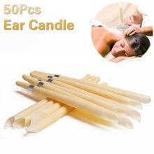 50pcs orelha vela orelha mais limpo tratamento de orelha remoção de cera de orelha mais limpo tratamento de coning de orelha indiana terapia fragrância candling