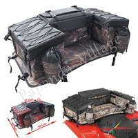 Camouflage ATV Cargo Bag Rear Rack Gear Bag 600D Waterproof Oxford Fabric Rear Seat Storage Padded Bottom Multi compartment