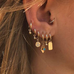 Earrings for Women Fashion Simple Bell Crystal Women Stud Earrings Set Jewelry Wholesale