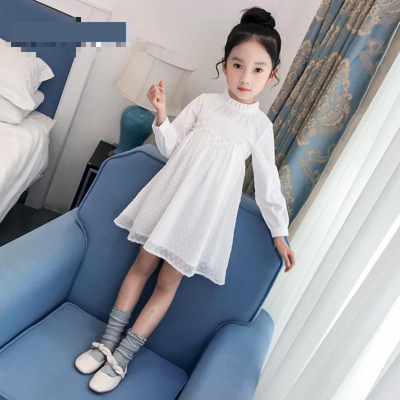 2019 nouveaux enfants filles robe automne robe de soirée filles robe de mariée vêtements de noël à manches longues enfant en bas âge robes 3 4 6 8 10 12 14