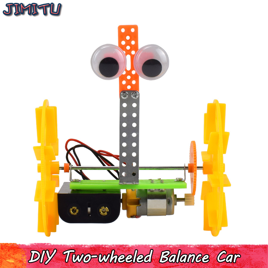DIY Electric Robot Car Model Kits Toy Gifts For Kids Plastic Assembling Educational Experiment Model Toy Hobbies Study Teaching
