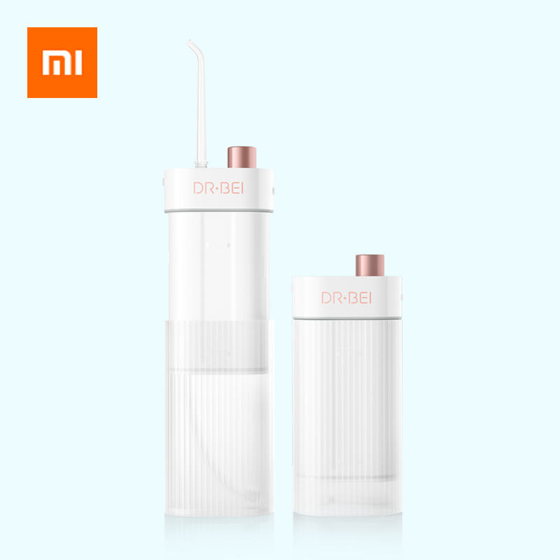Xiaomi DR.BEI F3 Oral Irrigator Dental Portable 180ml Water Flosser Tip Rechargeable 3-Level 0.6mm Ultra Fine Water Jet Flosser