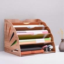 Файловый органайзер для документов деревянный Веерообразный книжный сортировщик бумаги 5 отсек для офиса настольного магазина Держатель для поделок