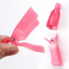 Colorful Plastic Nail Soak Off Remover Clips 10 pcs Set