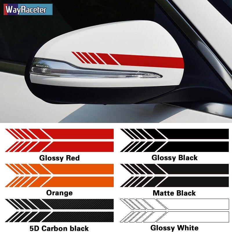 2 adet araba dikiz aynası Sticker çizgili vinil çıkartması Mercedes Benz için bir C r E r E r E r E r E r E r E r E r E r E CLA GLC GLA GLK CLS GLE CLK sınıfı W204 W205 AMG