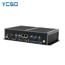 YCSD Fanless Industrial Mini PC Win10 Core i7 5500U 2*Intel Gigabit Lans 6*RS232 8*USB Micro Computer Linux Wifi HDMI Windows PC